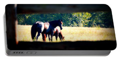 Portable Battery Charger featuring the photograph Horse Photography by Peggy Franz