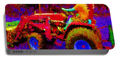Portable Battery Charger featuring the photograph Hot Afternoon On A John Deere Tractor by George Pedro