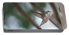 Portable Battery Charger featuring the photograph Hummingbird by Donna  Smith
