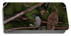 Portable Battery Charger featuring the photograph Hummingbird Waiting For Dinner by EricaMaxine  Price
