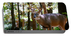 Portable Battery Charger featuring the photograph Hunters Dream 10 Point Buck by Peggy Franz