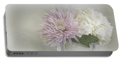 Hydrangea And Mum Portable Battery Charger by Cindy Garber Iverson
