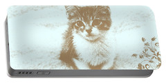 I Miss You Portable Battery Charger by Teresa Zieba