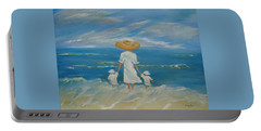 Portable Battery Charger featuring the painting I Remember Mom by Judith Rhue
