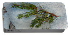 Portable Battery Charger featuring the photograph Ice Crystals And Pine Needles by Tikvah's Hope