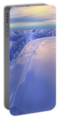 Portable Battery Charger featuring the digital art Ice Fissure by Phil Perkins