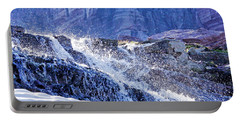 Portable Battery Charger featuring the photograph Icy Cascade by Albert Seger