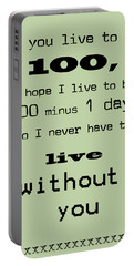 If You Live To Be 100 - Green Portable Battery Charger