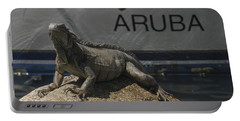 Portable Battery Charger featuring the photograph Iguana by David Gleeson