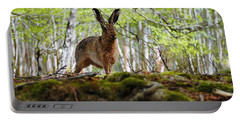 Portable Battery Charger featuring the photograph I'm All Ears by Gavin Macrae