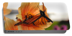 Portable Battery Charger featuring the photograph In Flight... by Michael Frank Jr