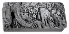 Portable Battery Charger featuring the drawing in my garden II by Mariusz Zawadzki