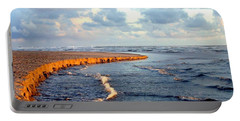 Portable Battery Charger featuring the photograph Incoming Tide At Sundown by Will Borden