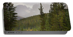 Indian Peaks Colorado Rocky Mountain Rainy View Portable Battery Charger