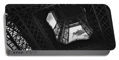 Portable Battery Charger featuring the photograph Inside The Eiffel Tower by Eric Tressler