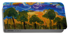 Intense Sky And Landscape Portable Battery Charger
