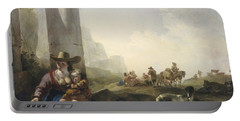 Italian Peasants Among Ruins Portable Battery Charger by Jan Weenix