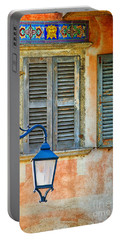 Italian Street Lamp With Window And Decorated Wall Portable Battery Charger