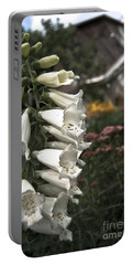 Ivory Foxglove Portable Battery Charger