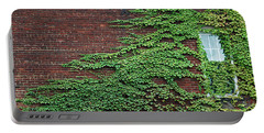 Portable Battery Charger featuring the photograph Ivy Covered Window by Gary Slawsky