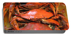 Crab Dinner Ocean Seafood  Portable Battery Charger
