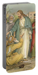 Jesus And The Blind Men Portable Battery Charger