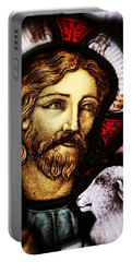 Portable Battery Charger featuring the photograph Jesus The Good Shepard by Verena Matthew