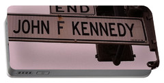 Portable Battery Charger featuring the photograph Jfk Street by Bill Owen