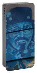 Portable Battery Charger featuring the digital art Johnny On The Wall by Carol Ailles
