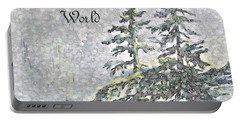Portable Battery Charger featuring the digital art Joy To The World by Joanne Smoley