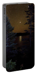 Portable Battery Charger featuring the photograph Jupiter Rising Over Otter Point by Brent L Ander