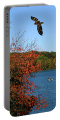 Portable Battery Charger featuring the photograph Juvenile And Fishermen by Randall Branham