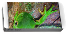 Portable Battery Charger featuring the photograph Kermit's Kuzin by Debbie Portwood