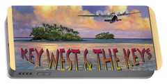 Key West Air Force Portable Battery Charger by David  Van Hulst