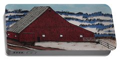 Portable Battery Charger featuring the painting Keystone Farm by Jeffrey Koss