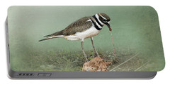 Killdeer And Worm Portable Battery Charger