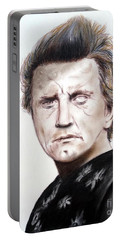 Kirk Douglas In The Vikings Portable Battery Charger by Jim Fitzpatrick