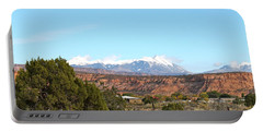 La Sal Mountains Portable Battery Charger by Pamela Walrath