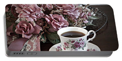 Ladies Tea Time Portable Battery Charger by Sherry Hallemeier