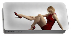 Lady In Red... Portable Battery Charger