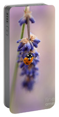 Ladybird And Lavender Portable Battery Charger