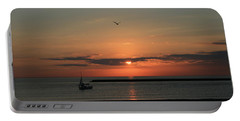 Portable Battery Charger featuring the photograph Lake Michigan Sun Rise by Kay Novy