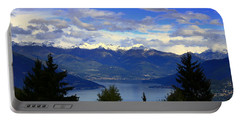 Lake Of Como View Portable Battery Charger