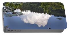 Lake Reflection Portable Battery Charger by Kay Lovingood