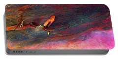 Portable Battery Charger featuring the digital art Landing by Richard Laeton