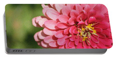 Portable Battery Charger featuring the photograph Large Pink Zinnia by Donna  Smith
