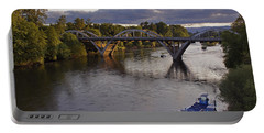 Last Light On Caveman Bridge Portable Battery Charger by Mick Anderson
