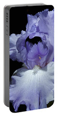 Lavender Blue Iris Portable Battery Charger