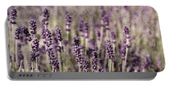 Lavender Field Portable Battery Charger by Laura Melis