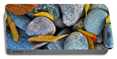 Portable Battery Charger featuring the photograph Leaves And Rocks by Bill Owen